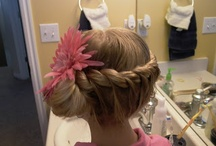 Girls hair up