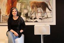 Taiteilijakoti / Graafikko ja taidemaalari Kaarina Heleiuksen koti on dramaattinen.