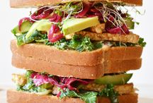 Vegan Sandwiches / Super easy to make vegan sandwiches! All plant-based, vegetarian recipes that are quick and healthy for lunch.