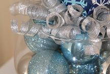 Winter Holiday center pieces