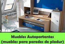 MUEBLES AUTOPORTANTES. ABATIBLES SIN ANCLAR A LA PARED / http://www.camas-abatibles.net/tienda-muebles-autoportantes.html / by Literas Abatibles Parchis Juvenil
