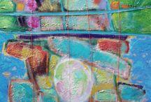 années 2010 - 2011 / Réalisations récentes ou en cours de peintures abstraites par Michel-Henri Aubert