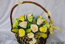 kwiaty z krepy