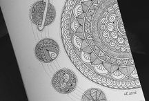 Mándalas y zentangle  art