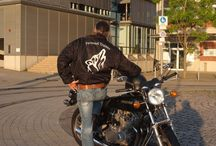 "Bikerjacket Logo ""Wolf"" / Biker Jacket Logo ""Reflective Wolf"" (Without words ""personal trainer"") Size S - XXL orders to: wh@the-spirit-of-health.com Shipping only after payment or at Angelika Stoeckel at Fashion Shop, Dusseldorf, Am Wehrhahn 61 (Stoeckel & CO)"