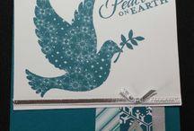 crafty lady creates christmas cards