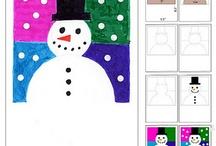 Art Project Ideas - Winter