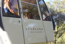 Sterling Vineyards / Sterling Vineyards sports 1,600 acres of vines in Napa Valley. It is a popular winery destination which has a cable car to deliver you to the main facility.