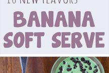 Banana ice creams & others