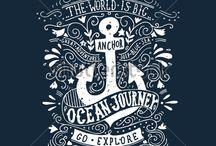 Lettering and illustrations