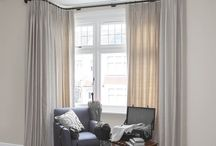 Curtain Poles / Think of curtain poles and tracks as the foundation garments for your curtains.  Inspiration and ideas on what to hang your curtains on - wooden curtain poles, metal, copper, poles for bay windows. And tips and guides  on how to position curtain poles.