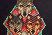 American Indian beaded doll jewellery / Please send me a pattern to make these American Indian beaded dolls.