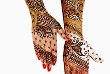 Hair styles / Bridal beauty hair make up and henna