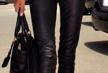 Leather Pants / Leren broek combi's