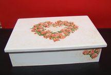 Cajas / Cajas que he realizado para regalo de nacimiento, bodas, souvenirs etc.