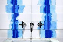 Watermark Indigo Tile / Indigo, Blue, Watercolor, tile, interior design h-a-l-e.com #30DaysOfSummer #CleTile #Watercolor #Indigo