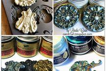 vintage colors/wax Inka gold
