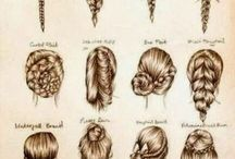 Hair styles and ideas.
