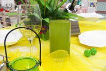 Wiosenna dekoracja stołu w kolorze żółtym / Prezentujemy żółtą, wiosenną stylizację stołu, którą dzięki produktom z naszego sklepu, każdy może sam powtórzyć u siebie w domu.