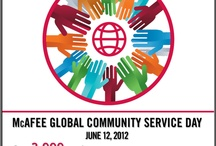 Global Community Service Day / McAfee celebrated its 25th anniversary by reflecting on what matters most — community. Our employees from around the globe spent June 12th, 2012 giving back and providing much needed support to our friends and neighbors. As we enjoy success, we want our community to enjoy that same success.