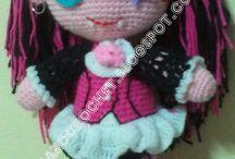 muñecas tejidas al crochet