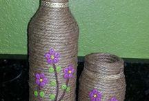Potjes/ flessen versieren
