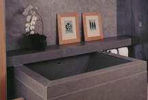 Bathroom / Concrete bathroom vanities, countertops, tub surrounds, etc.
