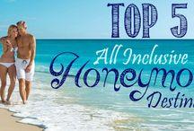 Top 5 All Inclusive Honeymoon Destinations / Top 5 All Inclusive Honeymoon Destinations, Jamaica, Cancun/Riviera Maya, Punta Cana, St Lucia, and Antigua