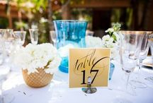 Turquoise/Gold/Ivory Wedding / A beautiful and elegant wedding with a touch of the rustic outdoors. Spectacular event!