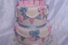 Joint christening cakes