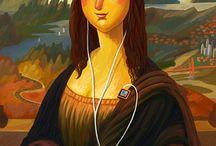Mona Lisa Revisited. / Classic art reinterpretations.