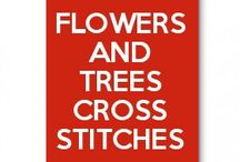 Flowers and Trees cross stitches