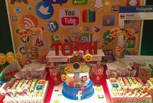 fiesta de redes sociales