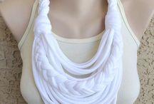Tshirt yarn scarfs