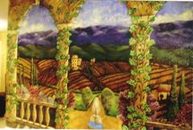 Tuscan Murals / Murals created with a distinctive Tuscan feel