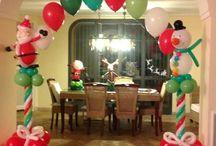 Decoración con globos navidad