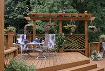 DECKS/OUTDOOR SPACES / by Terri Pascu