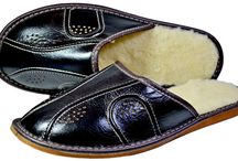 Carter Indoor thick Plush Wool Leather Slippers