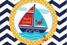 Ahoy Matey! Cute Baby and Children's Nautical Theme Party Ideas. / What coul be cuter than an Ahoy Matey! Baby Shower, 1st Birthday, or Child's Nautical Theme Party? We have searched Pinterest for the best juvenile and nautical baby shower ideas out there, and added some of our own favorite products. Creat your own nautical Baby Shower or Ahoy Matey birthday party today!