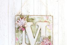 Anna Marie Designs / These Anna Marie Designs MDF Plaques and Letters can be beautifully painted and decorated to create unique designs to hang around your home. For more ideas visit our website: http://bit.ly/2qrAmZB