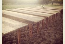 tables >//< / wedding table reception custom farm wood barn wood rustic