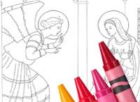 Catholic coloring pages / Coloring pages with a faith theme, especially good for church holidays.