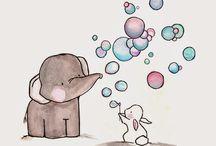 elefantino e coniglietto