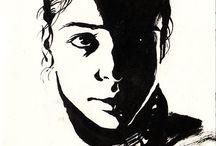 black and white ink artwork