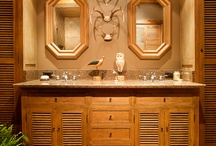 Leland Interiors: Williamson County Cabin / Newly built log cabin incorporating antique elements
