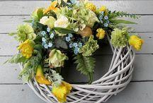 wiosenne dekoracje na cmentarz