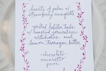 Design // WEDDING MENUS