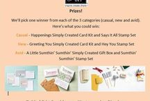 Stampin' Up! Inspire.create.share competition / Stampin' Up! UK things that inspire me to create my Stampin' Up! projects that I share on my Stampin' Up! pinterest boards