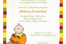 Fall themed baby showers