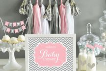 baby shower pink and gray